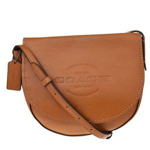 Auth Coach F17726 Leather Shoulder Bag Brown